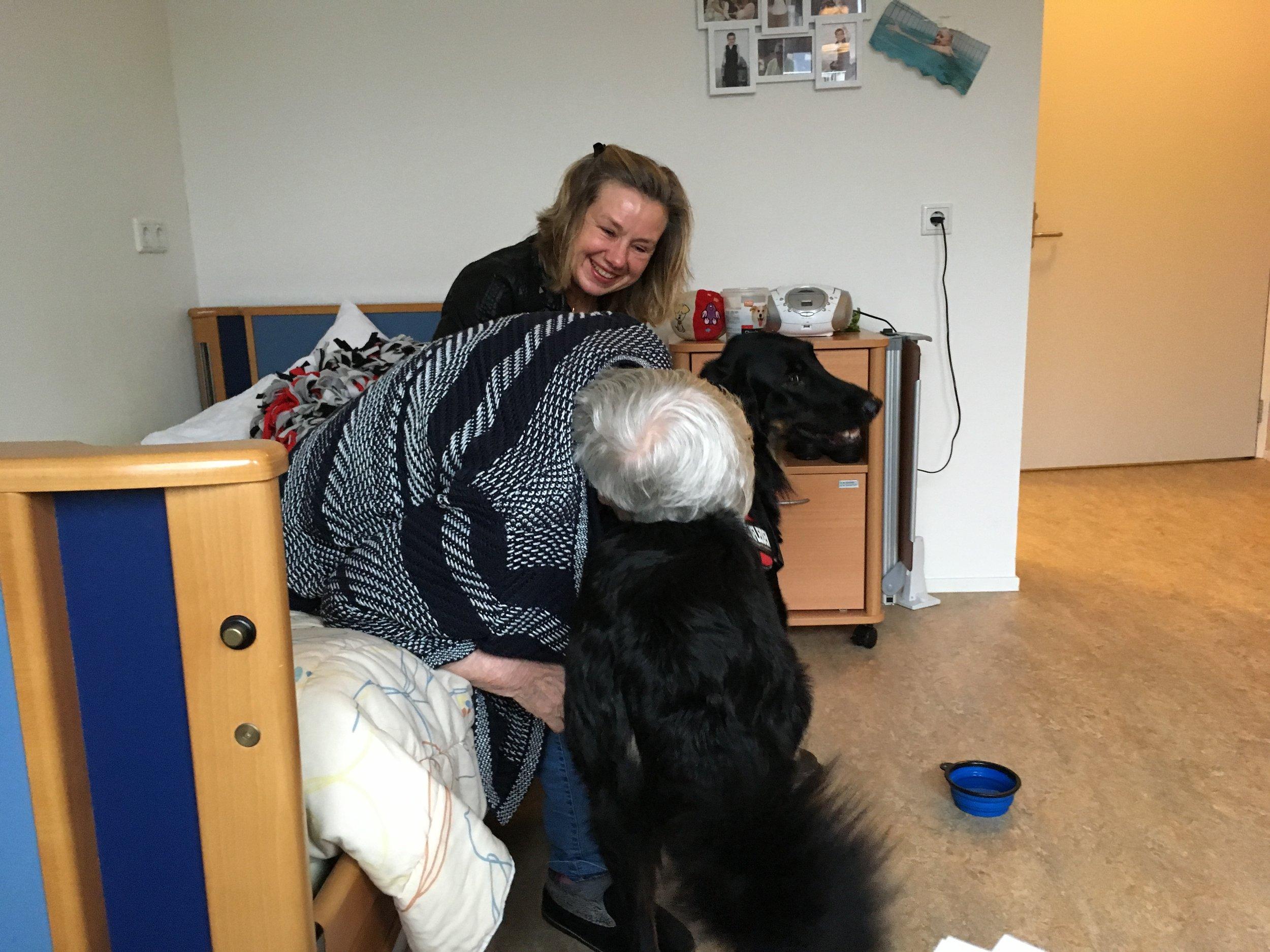 Lotje, Hovawart teef, therapiehond bij Letty Dreesman