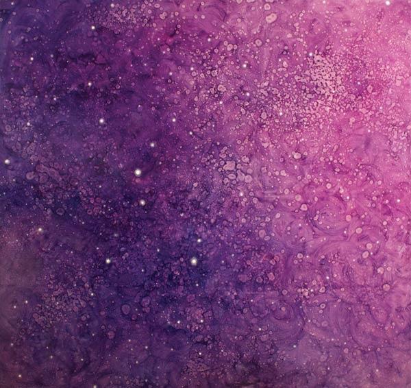 Brooke Wayne,  Cosmic & Microscopic IV , oil on canvas, 66 x 70 inches, 2013