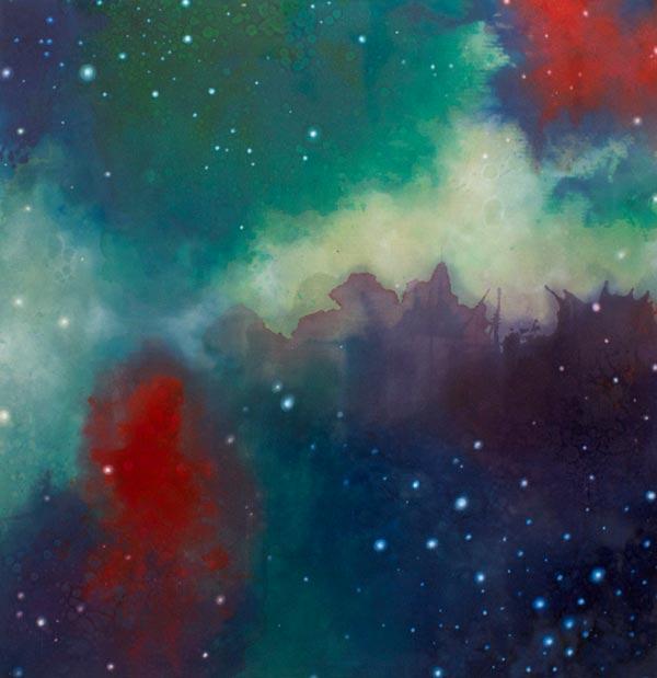 Deanna McCaw & Brooke Wayne,  Luminous , acrylic and oil on canvas, 58 x 60 inches, 2013