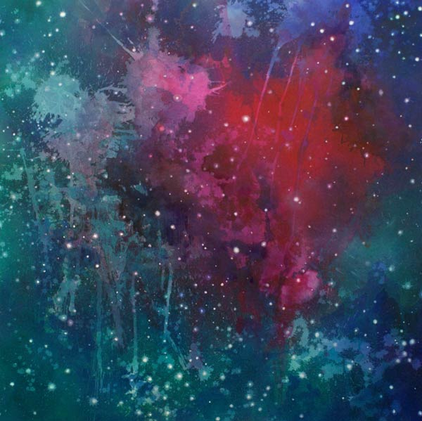 Deanna McCaw & Brooke Wayne,  Glow , acrylic and oil on canvas, 47 ½ x 47 ½ inches, 2012