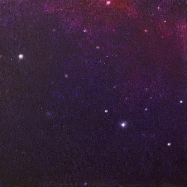 Brooke Wayne,  Nebulous Exploration III , oil on canvas, 12 x 12 inches