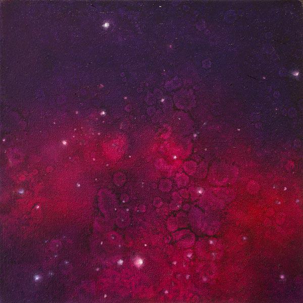 Brooke Wayne,  Nebulous Exploration IV , oil on canvas, 24 x 24 inches