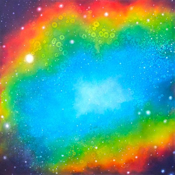 Brooke Wayne,  Nebulous Exploration V , oil on canvas, 24 x 24 inches, 2014