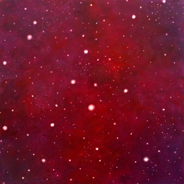 Brooke Wayne,  Nebulous Exploration VI , oil on canvas, 24 x 24 inches, 2014