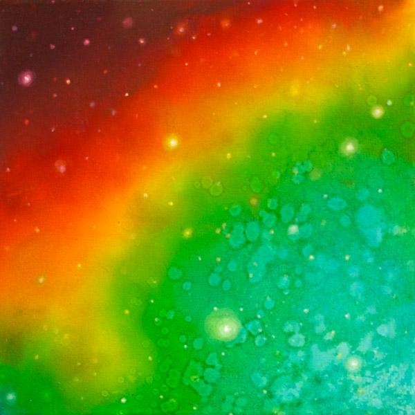 Brooke Wayne,  Nebulous Exploration VIII , oil on canvas, 12 x 12 inches, 2014