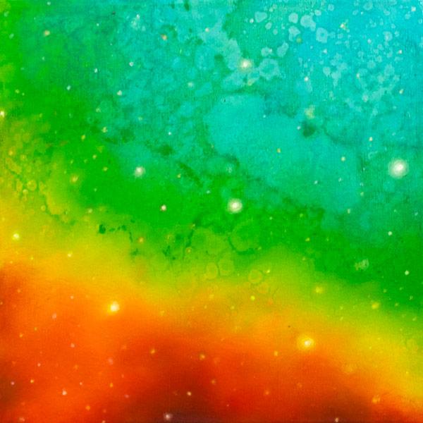 Brooke Wayne,  Nebulous Exploration IX , oil on canvas, 12 x 12 inches, 2014