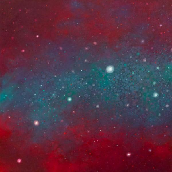 Brooke Wayne,  Nebulous Exploration XI , oil on canvas, 24 x 24 inches, 2014