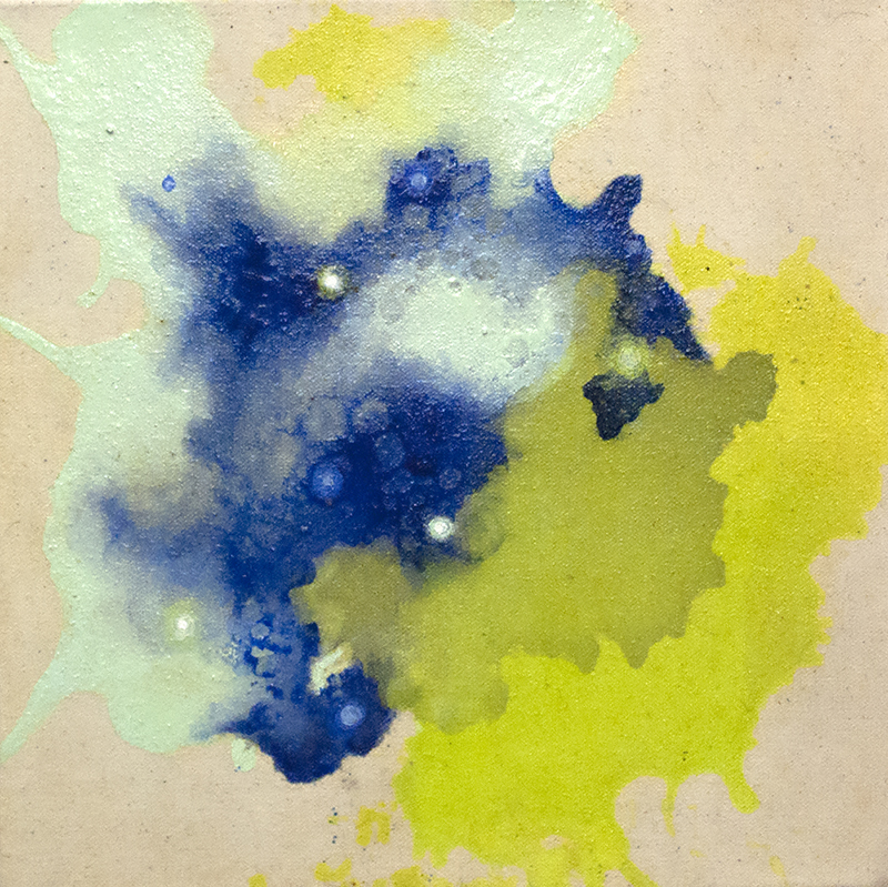 Deanna McCaw and Brooke Wayne,  Alluvium I , oil and acrylic on canvas, 12 x 12 inches, 2015