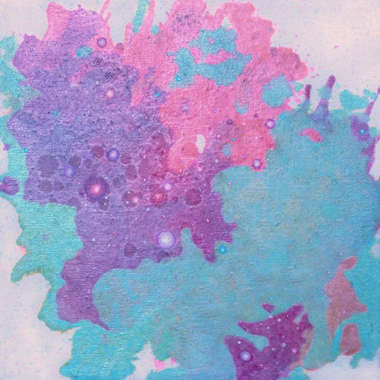 Deanna McCaw and Brooke Wayne,  Saccharine I , oil and acrylic on canvas, 12 x 12 inches, 2017
