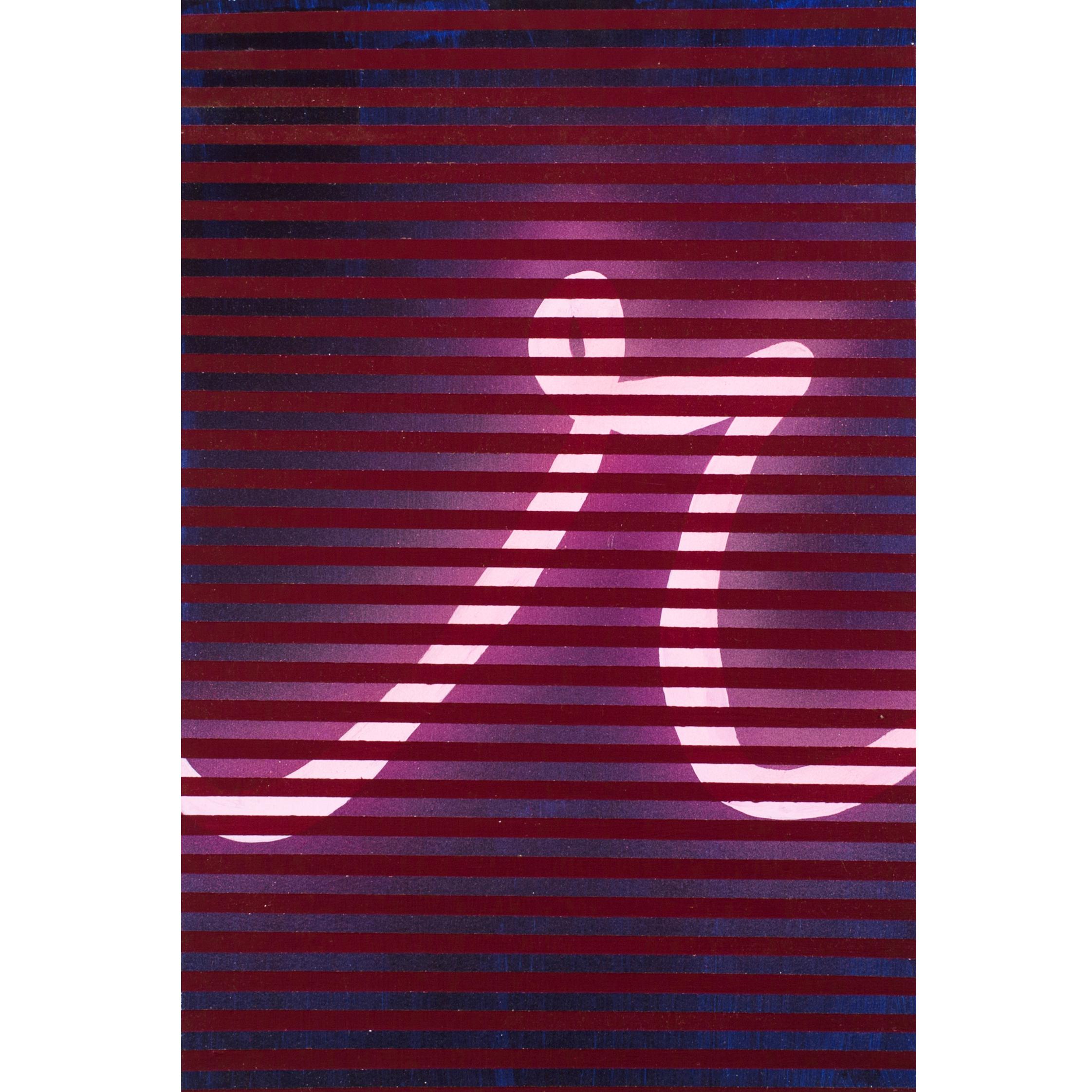 r , 15 x 10 inches, Acrylic on Hand Cut Sheetrock, 2014.