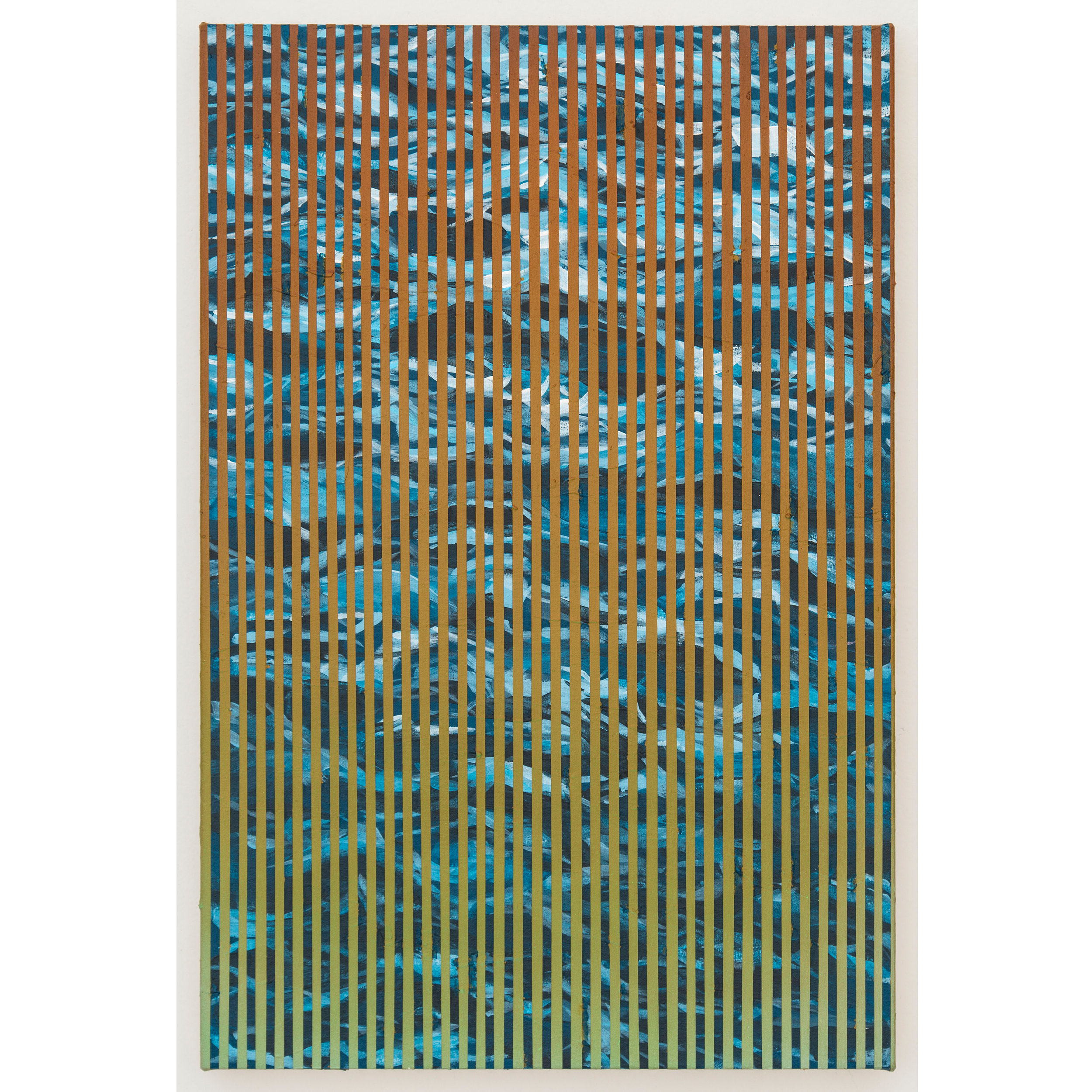 Wavenoise 1 , 2016, acrylic on canvas, 15 x 10 inches.