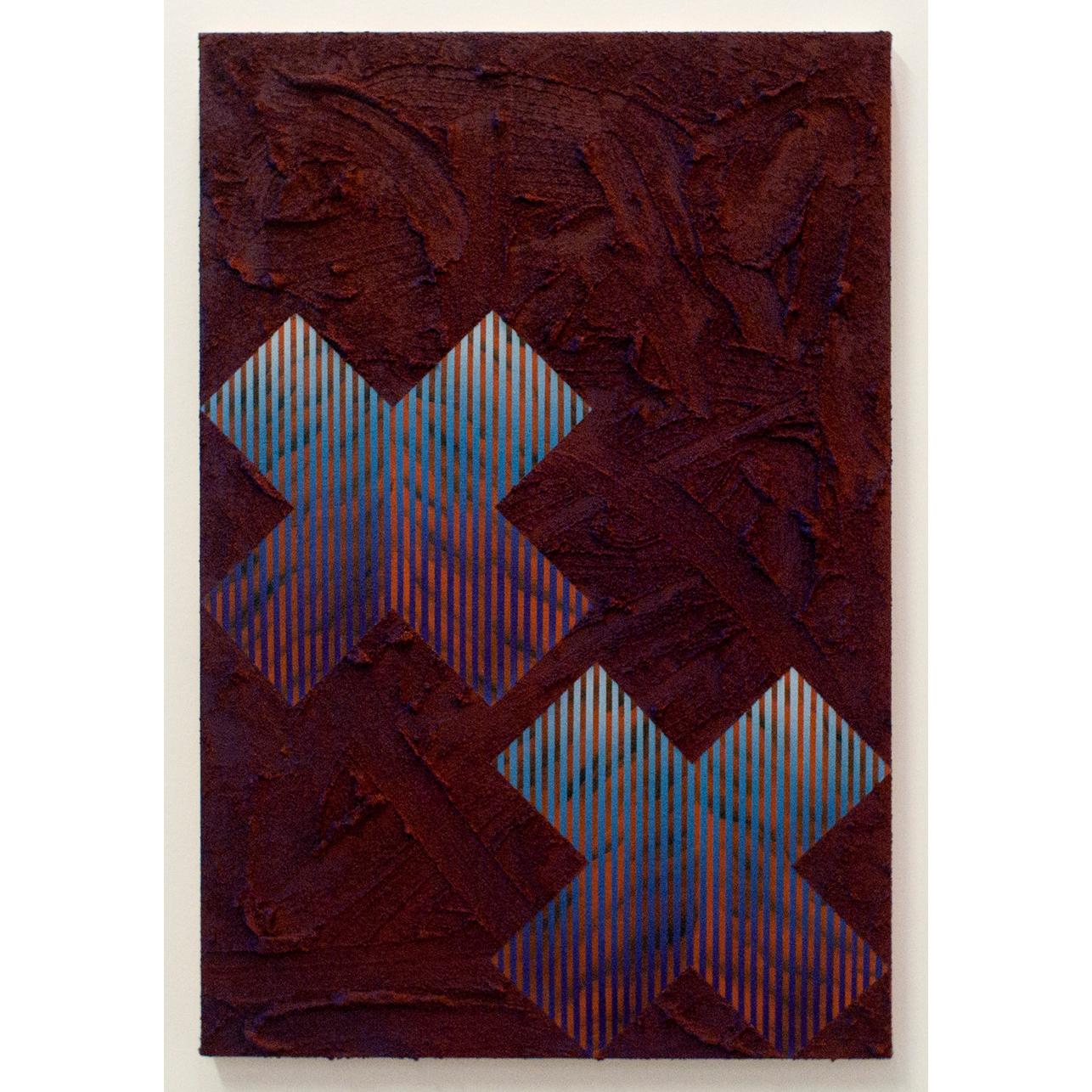 Untitled , 2018, acrylic and pumice gel on canvas, 21 x 14 inches.