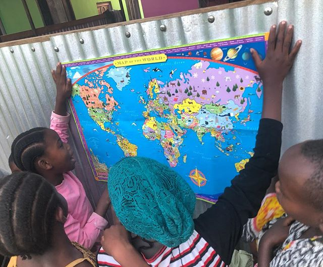 Showing the kids where their sponsors live! #educate #sponsor #donate #kids #school #happy #love #future #support #support #nonprofit #organization #tanzania #africa #knowledgeispower #knowledge #power #map #sponsors #sponsees #funding #corporatesponsor