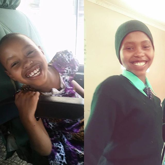Lusia started school almost 4 years ago. The picture on the left is from our shopping trip day for school supplies in 2015. The picture on the right was taken a few weeks ago at @greenvalleyschools_arusha where she is thriving and studying hard! #study #school #thrive #sponsor #donate #donations #sponsorship #kids #knowledgeispower #support #love #giveback #payitforward #nonprofit #tanzania #africa #corporate #corporatesponsorship #educate #education #empower #changetheworld