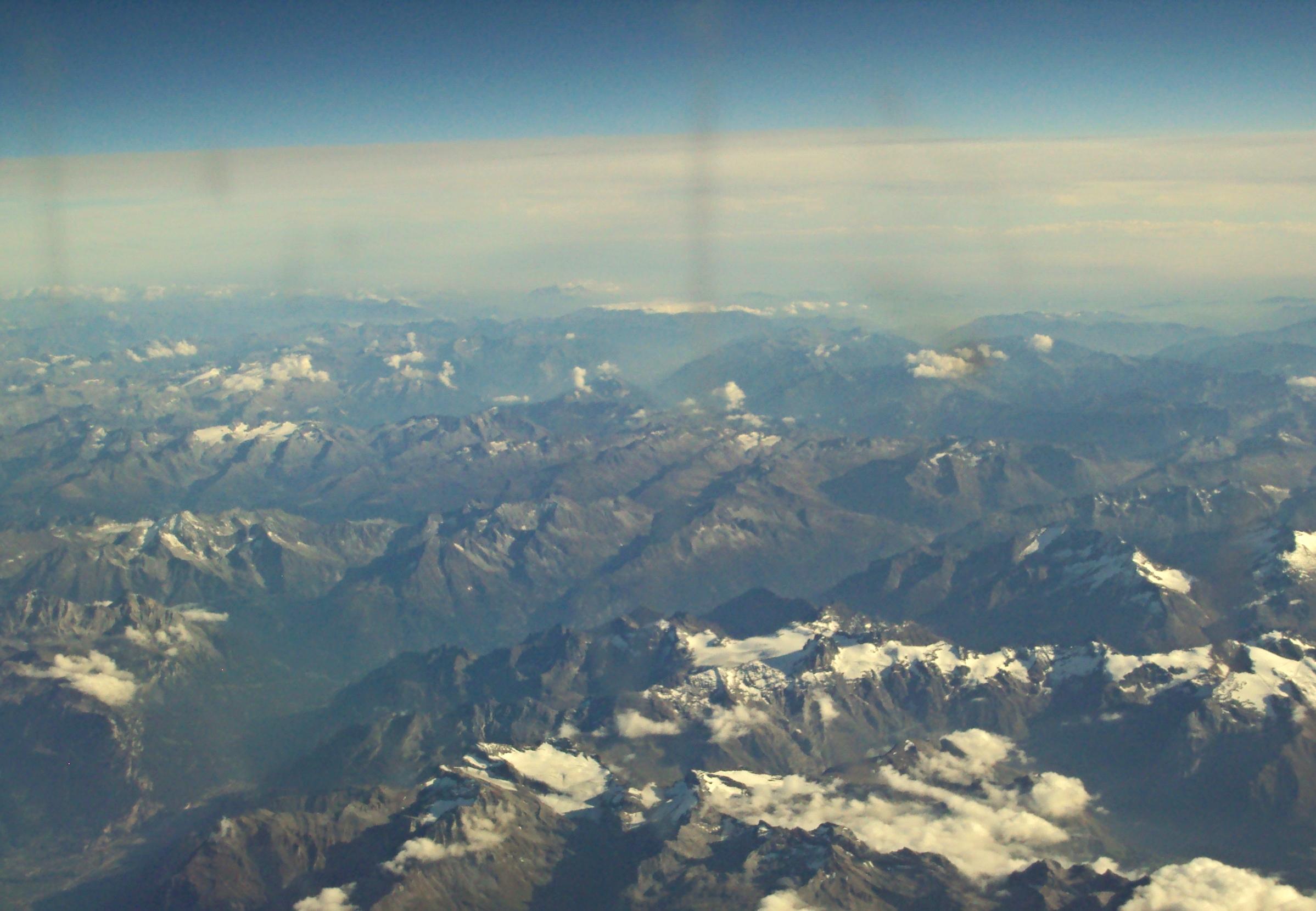 Views from a very sketchy ryan air flight.