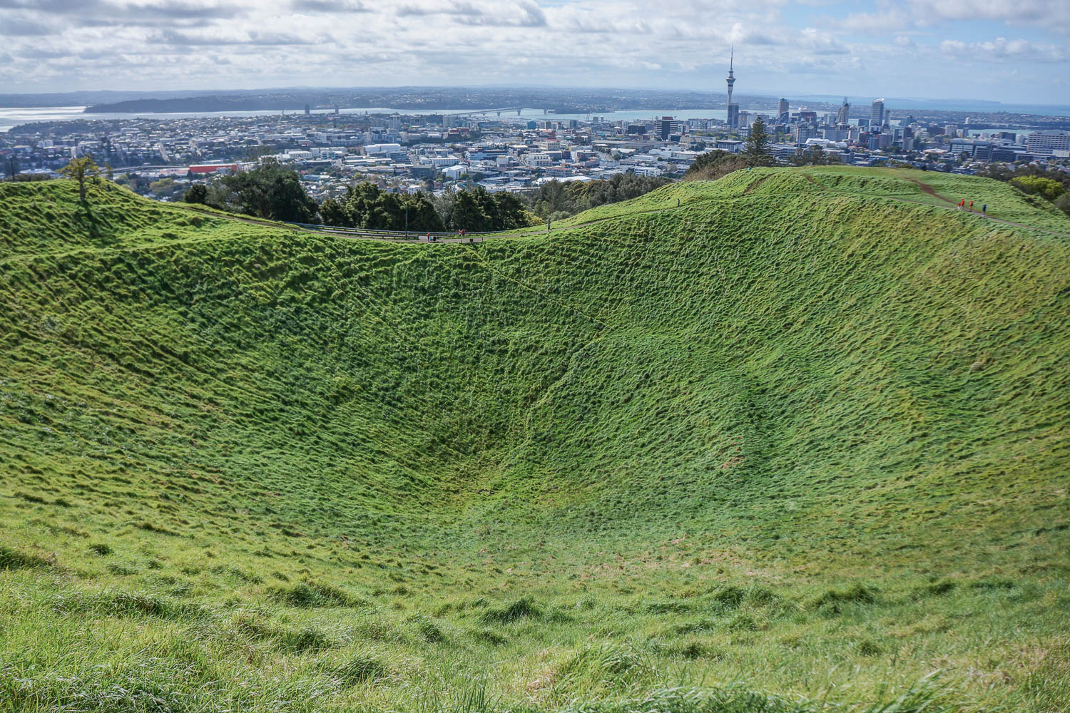 Mount Eden  is a dormant volcano whose summit is the highest natural point in auckland.