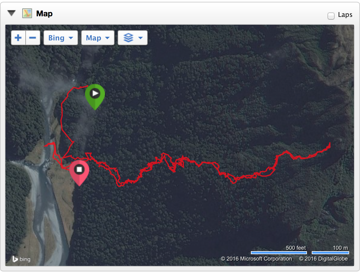 This is the most shameful Garmin map I've ever logged.  You can even see my river crossing.