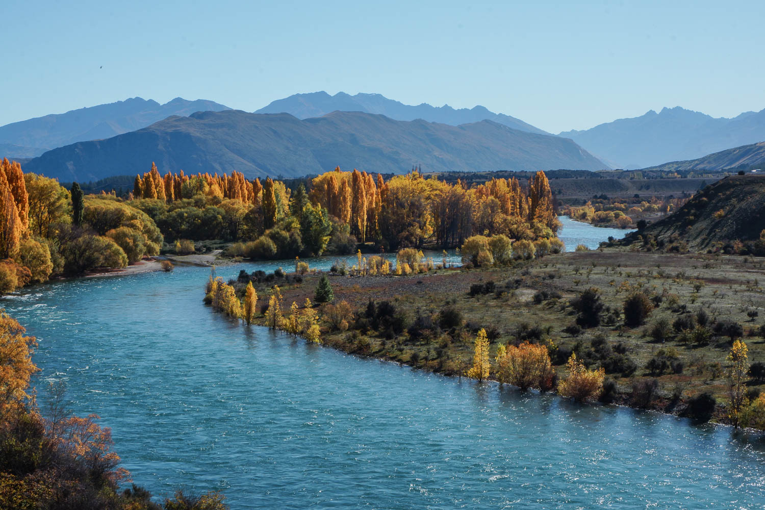 Upper Clutha River in the fall.