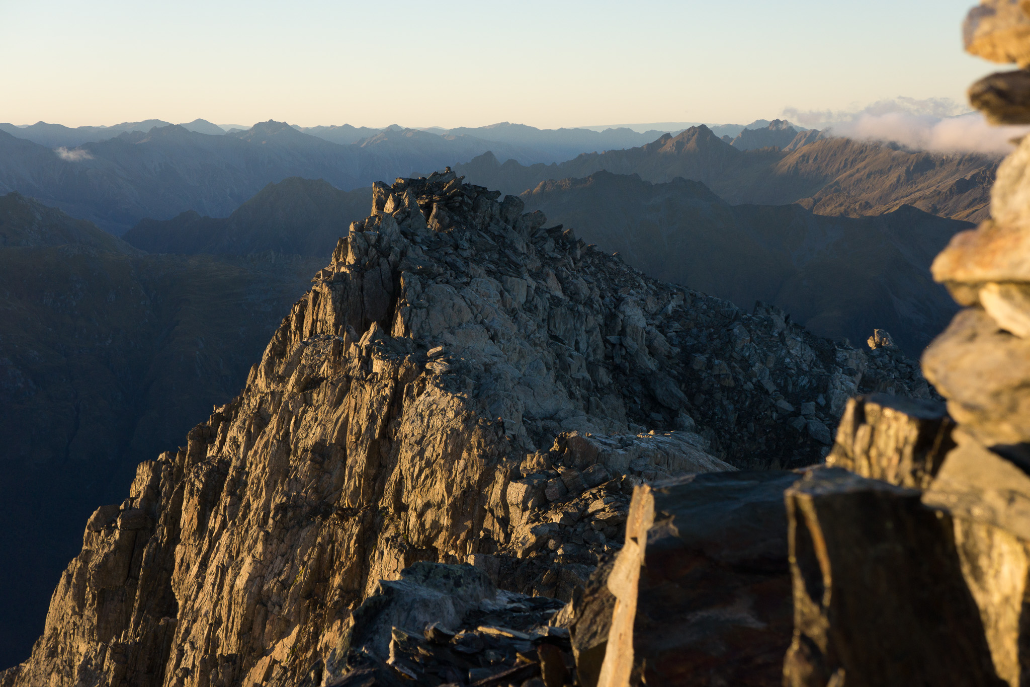 the southern ridge we used to summit mount armstrong.