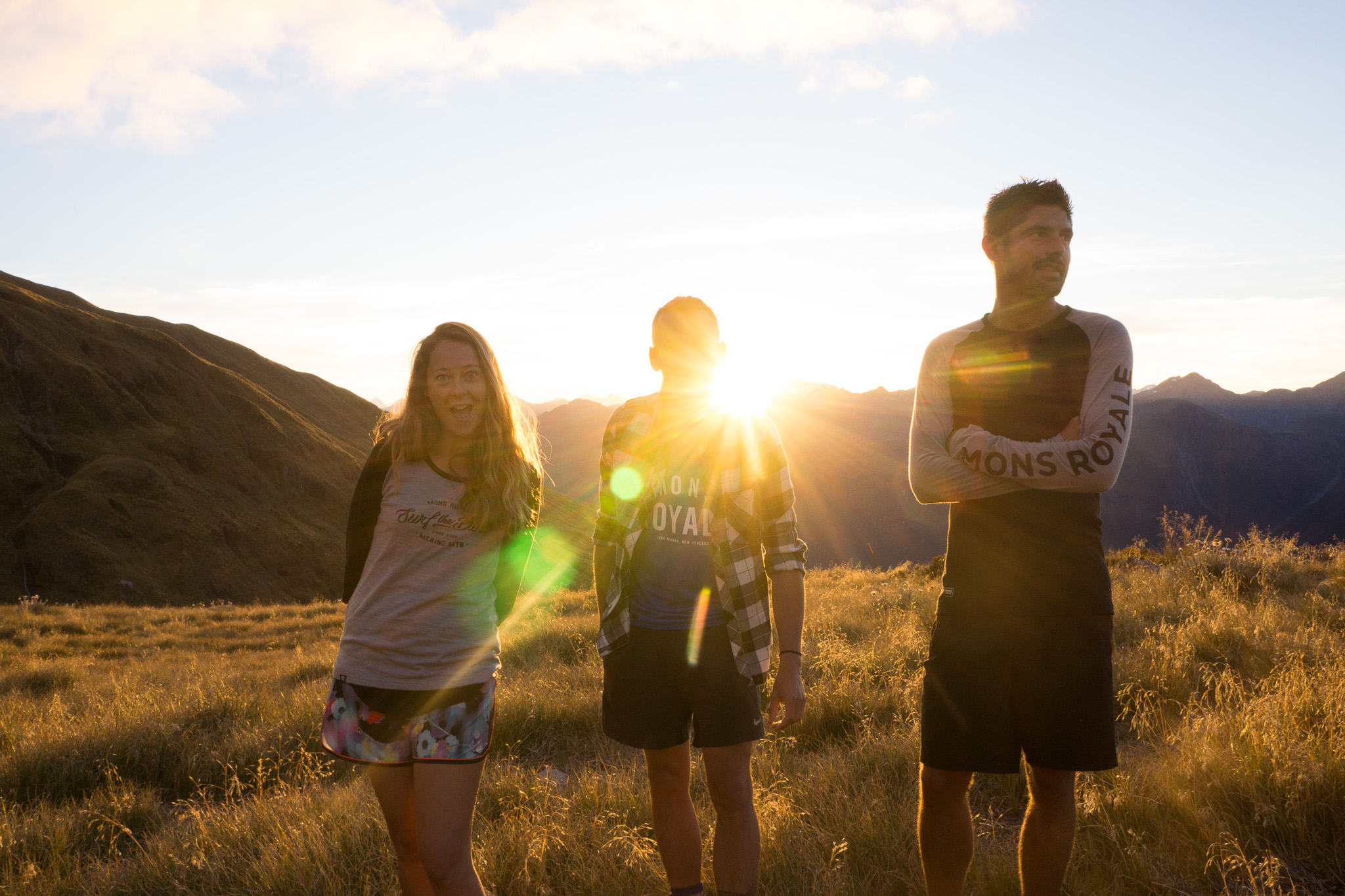 Hannah, tanguy and pierre at sunset.