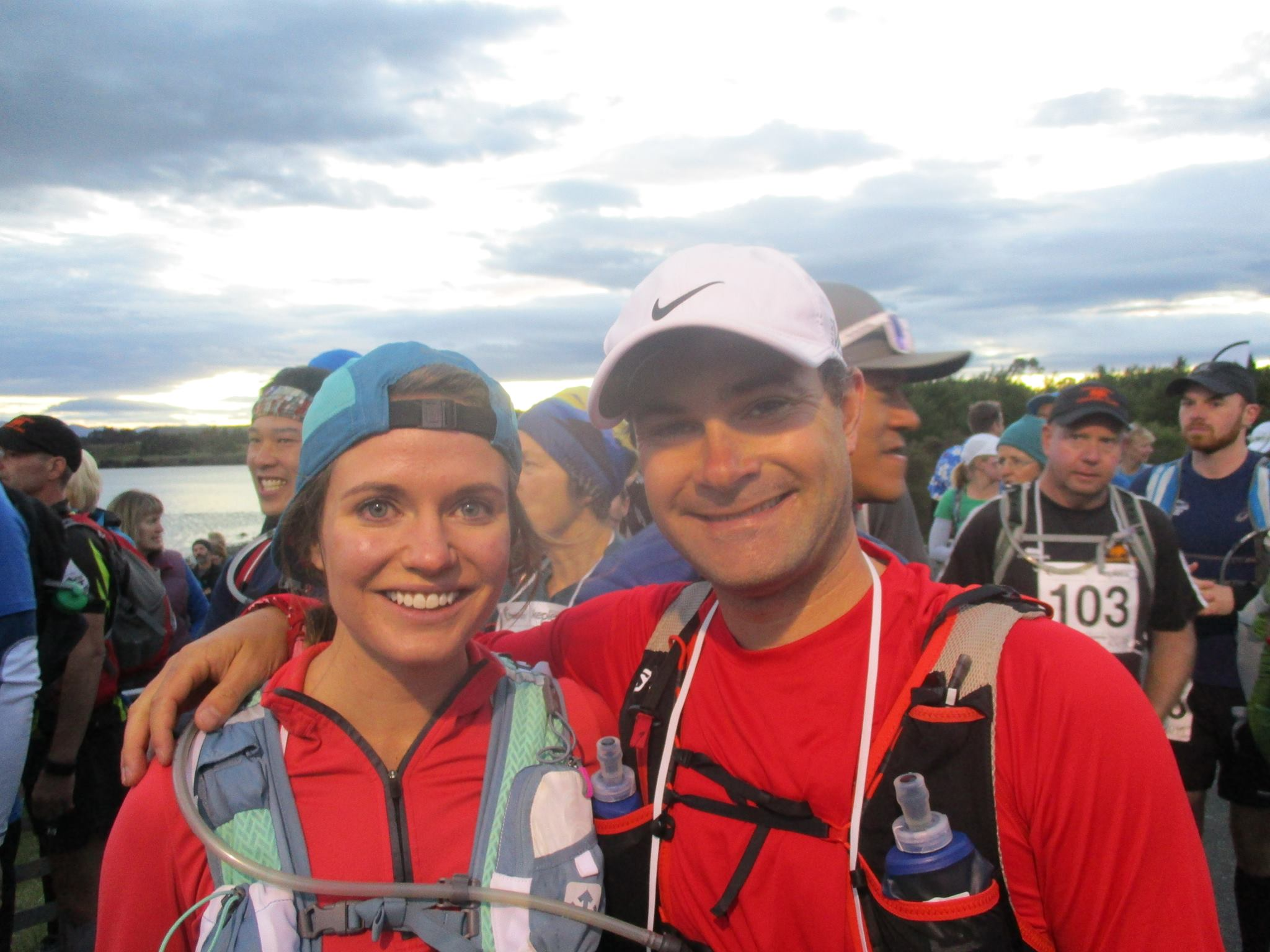 Pre-race photo with Mark