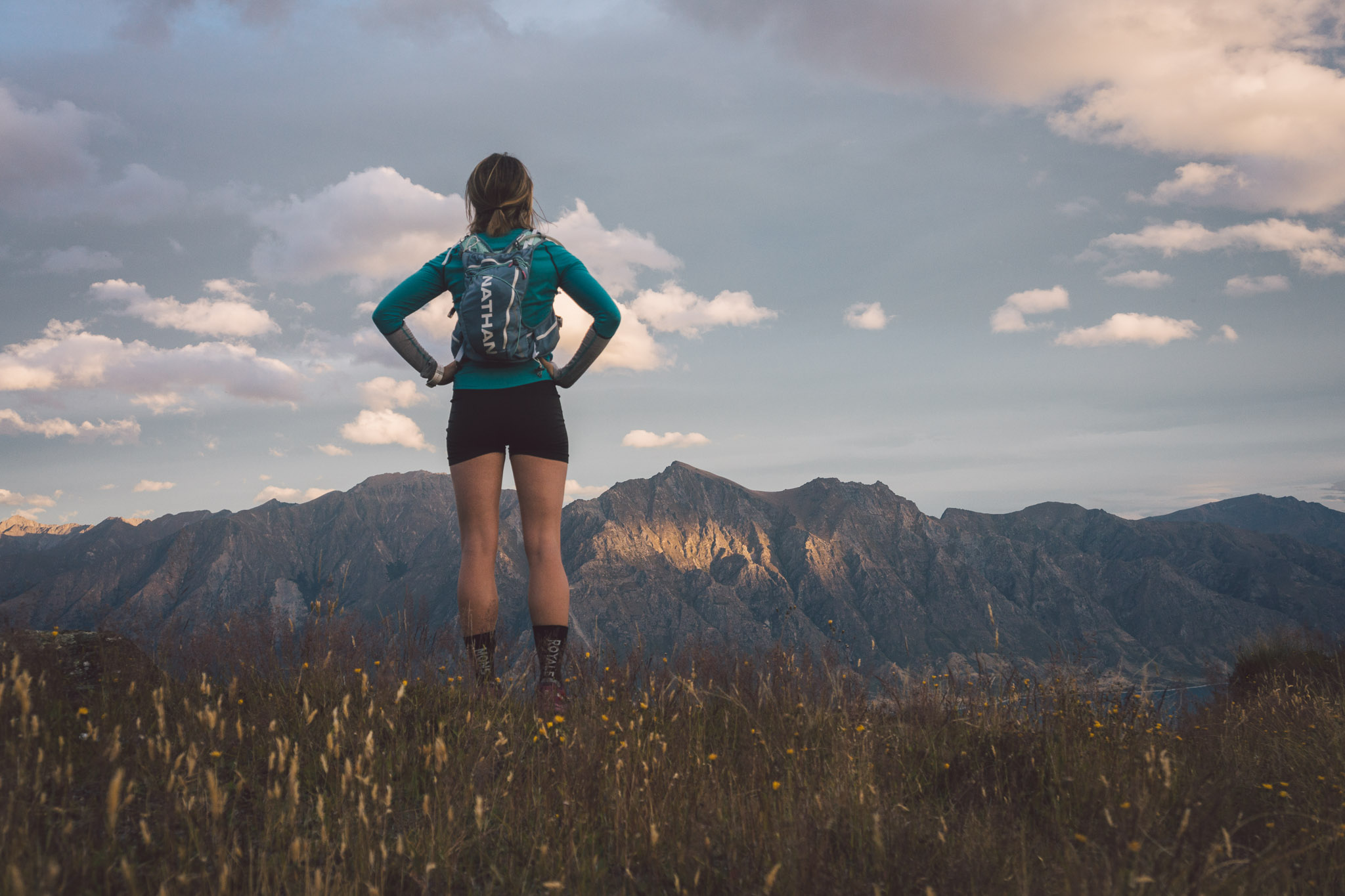 Pausing to take in the commanding beauty of Corner Peak.