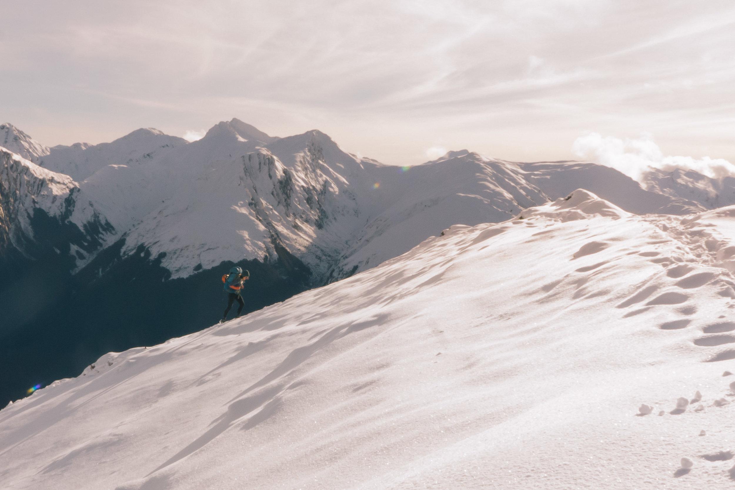 Brewster Hut in Winter