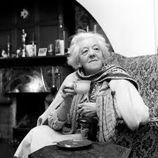 Margaret Rutherford.    Famous for her portrayal of Miss Marple. Expert in cape wearing and tossing same over the shoulder in a dismissive fashion, drawing herself up to her full height with indrawn breath inhaled nasally. Generally awesome .