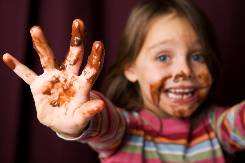 A sticky, messy kid is a happy kid.