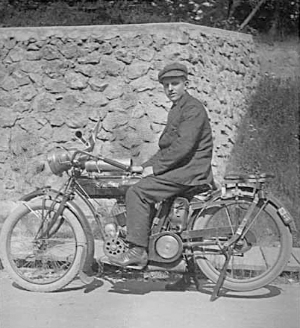 Sidney Rich on his beloved motorcycle.