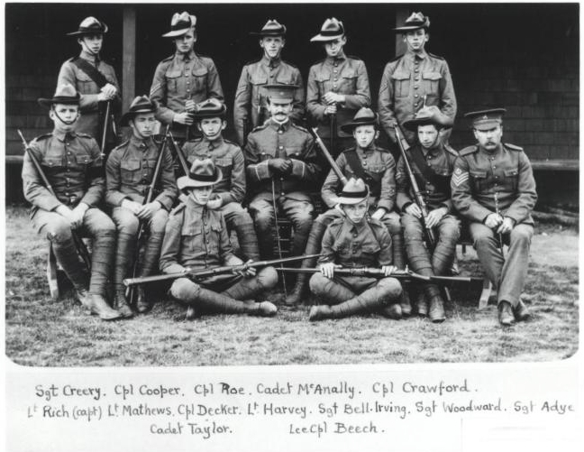 Sidney as a Cadet - (far left front row).