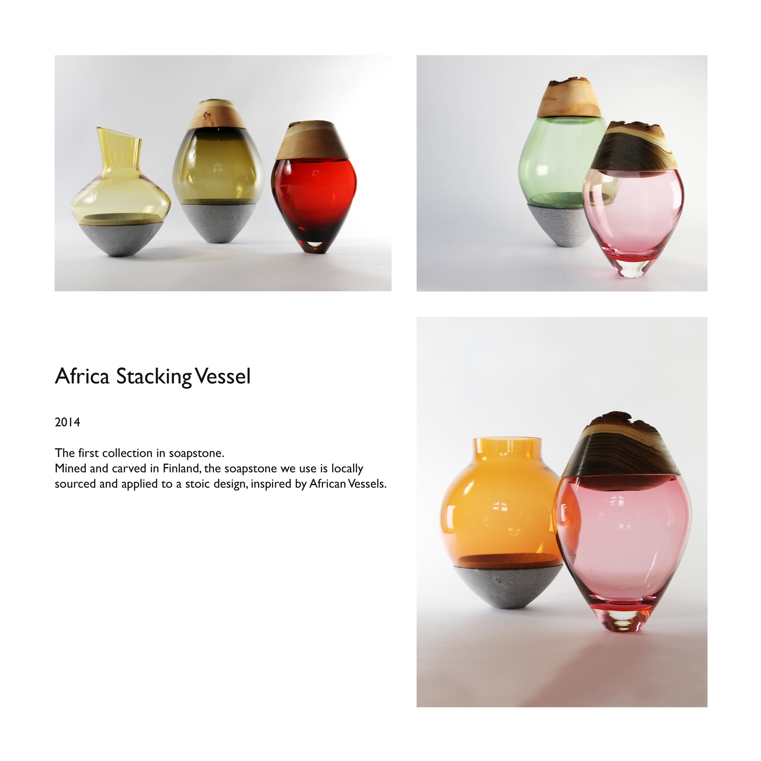 Africa Stacking Vessel soapstone