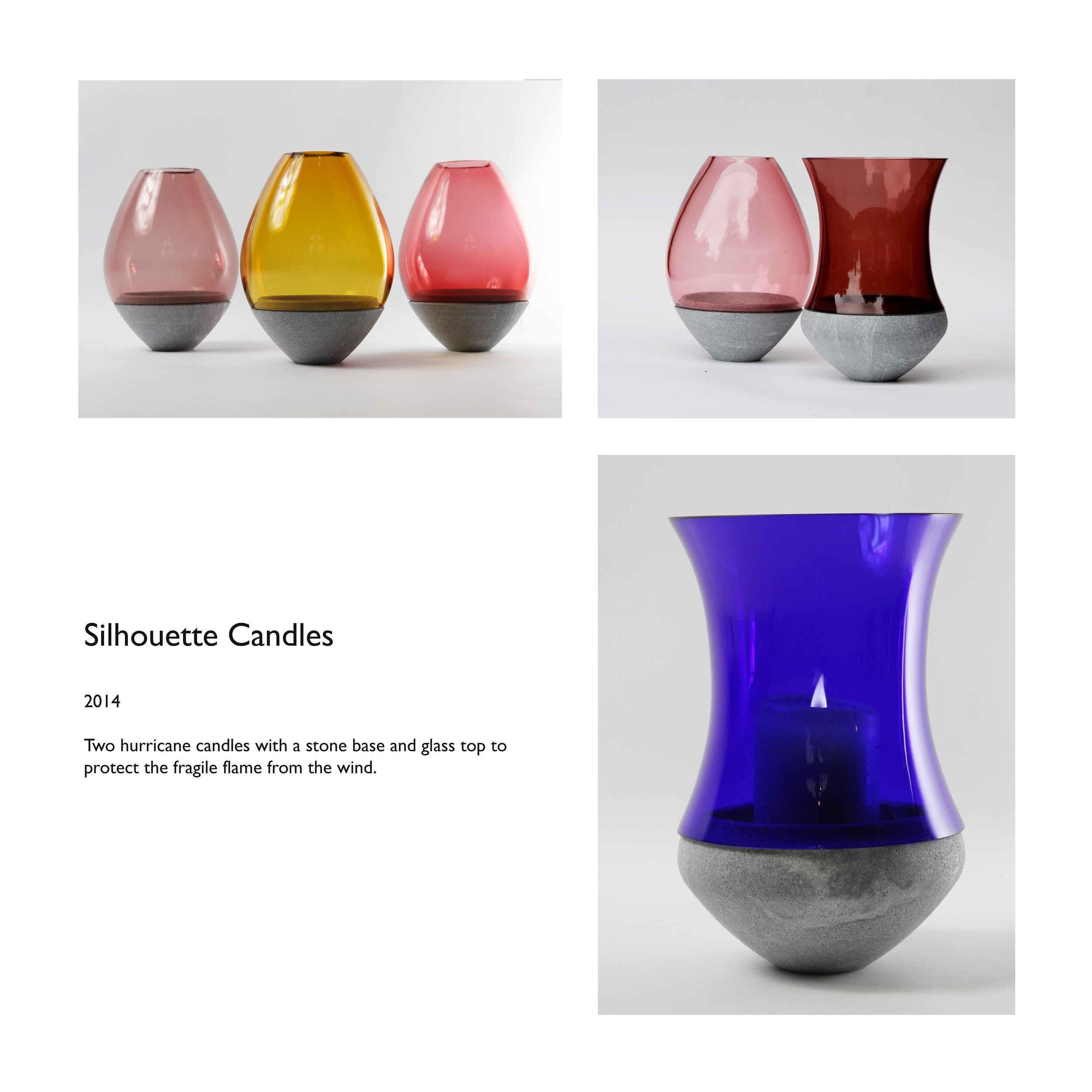 Silhouette Hurricane Candle Holders soapstone glass