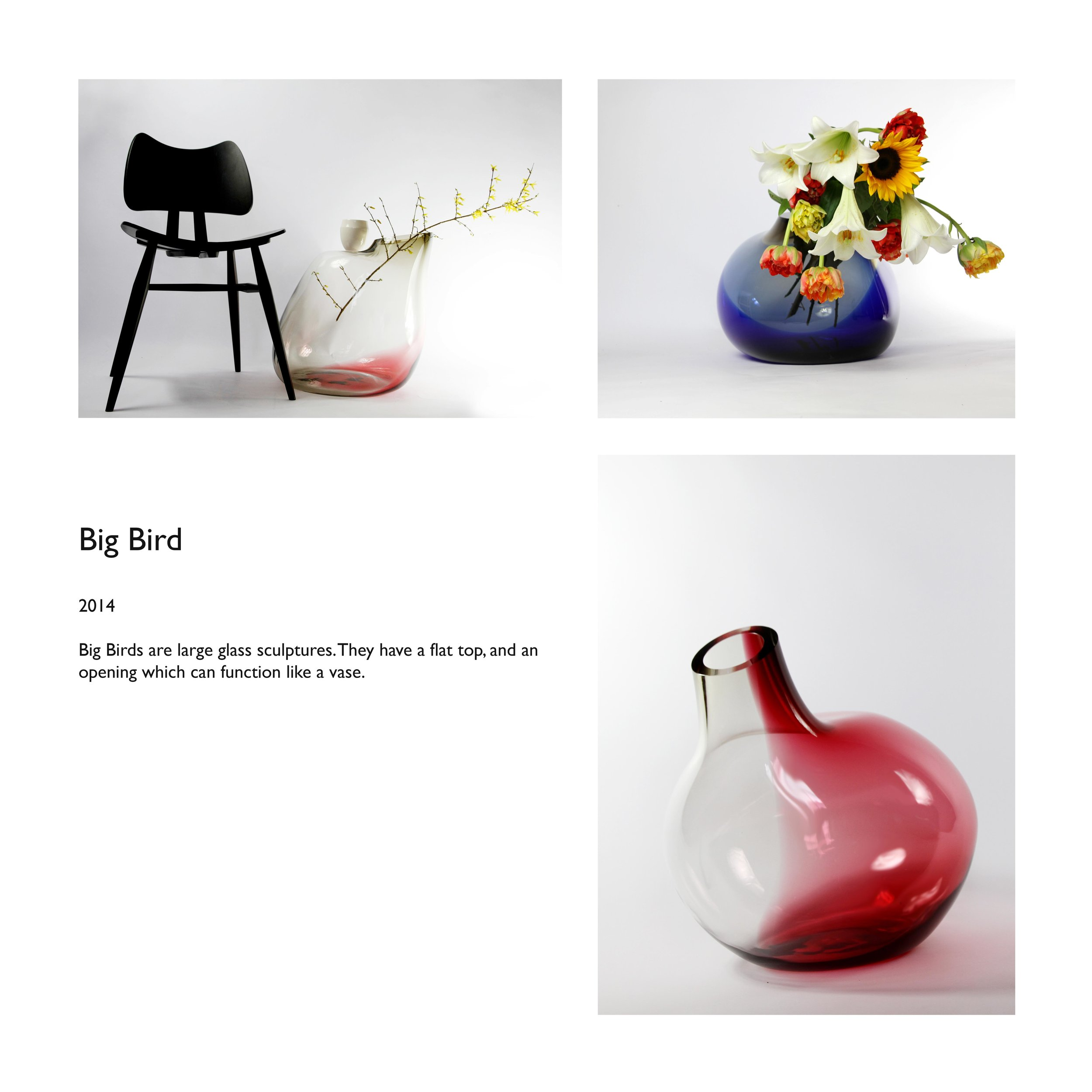 Big Bird mouthblown glass