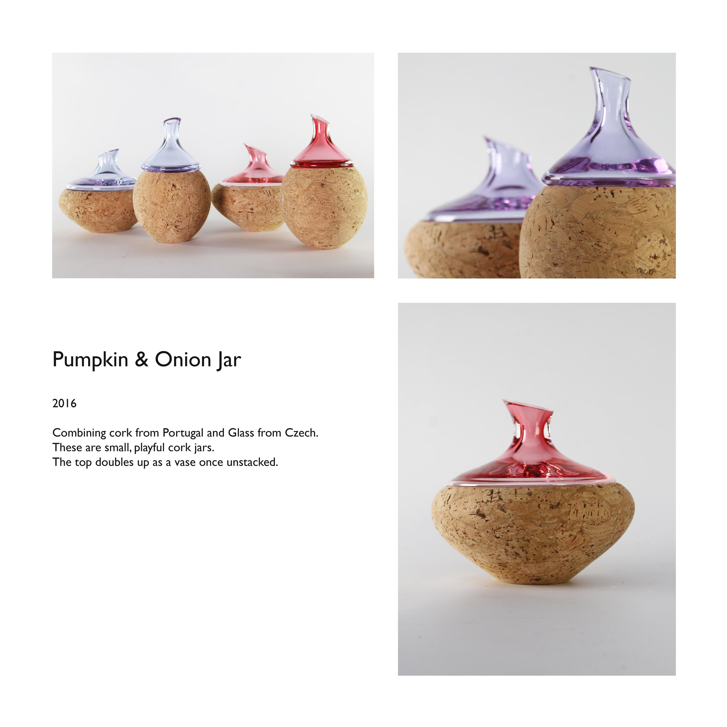 Pumpkin and Onion Jar Cork glass