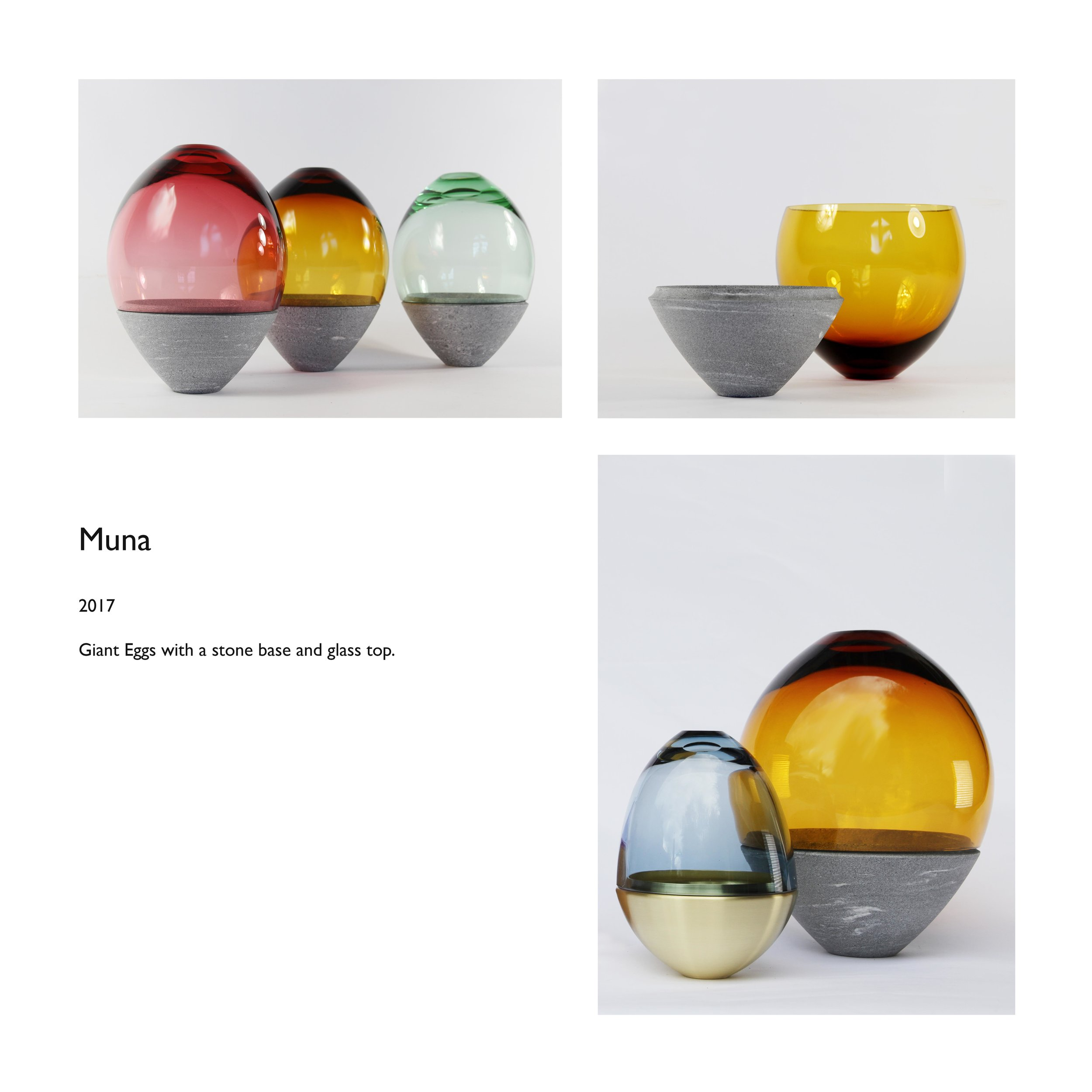 Muna stone glass egg