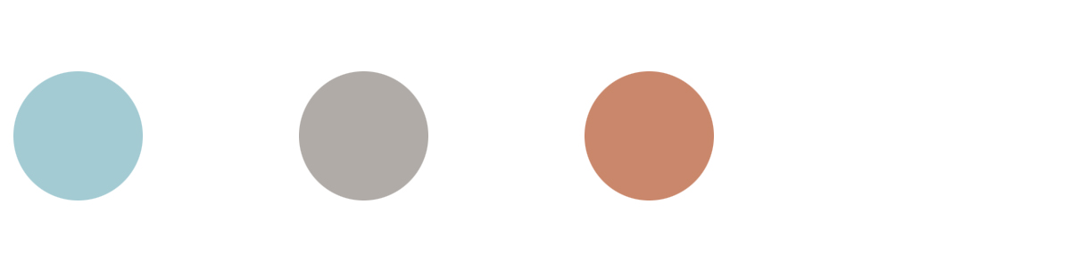 Colours 2019 : Petrole, Grey, Peach