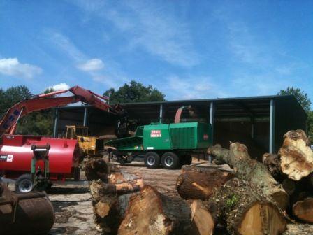 recycling wood yard