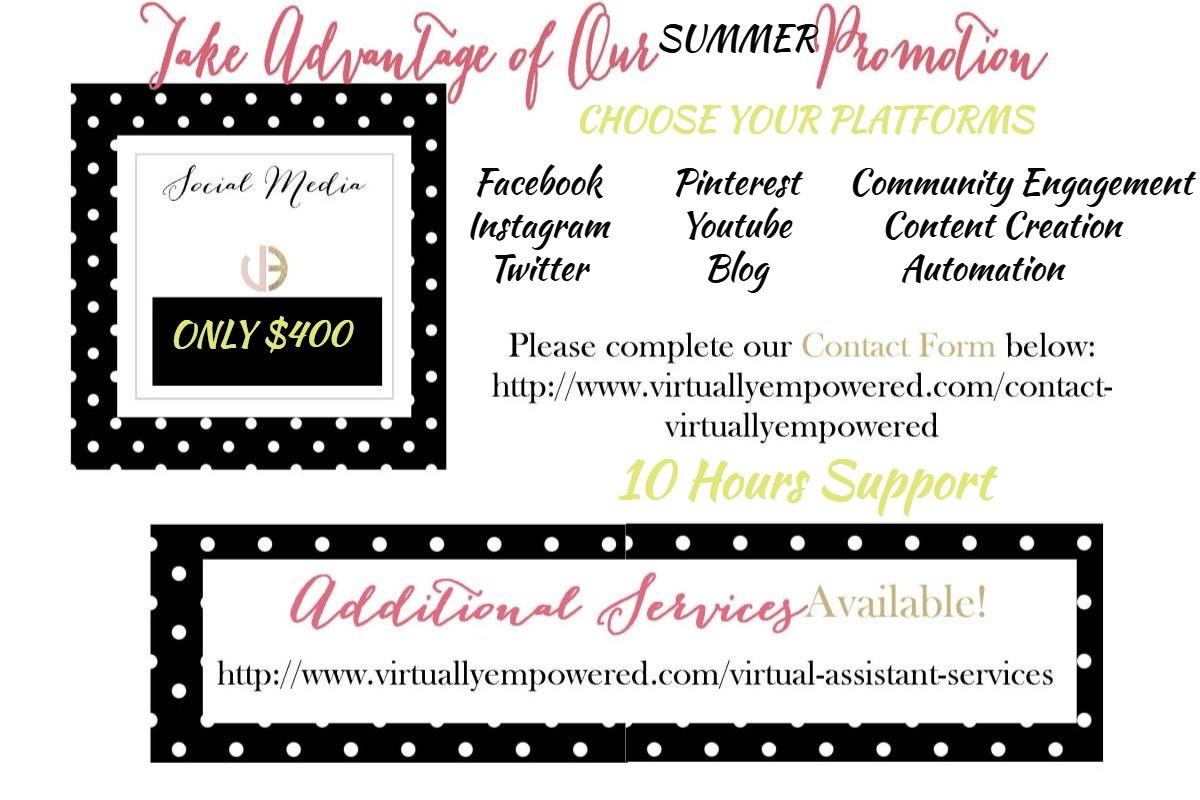 Social Media Summer Sale