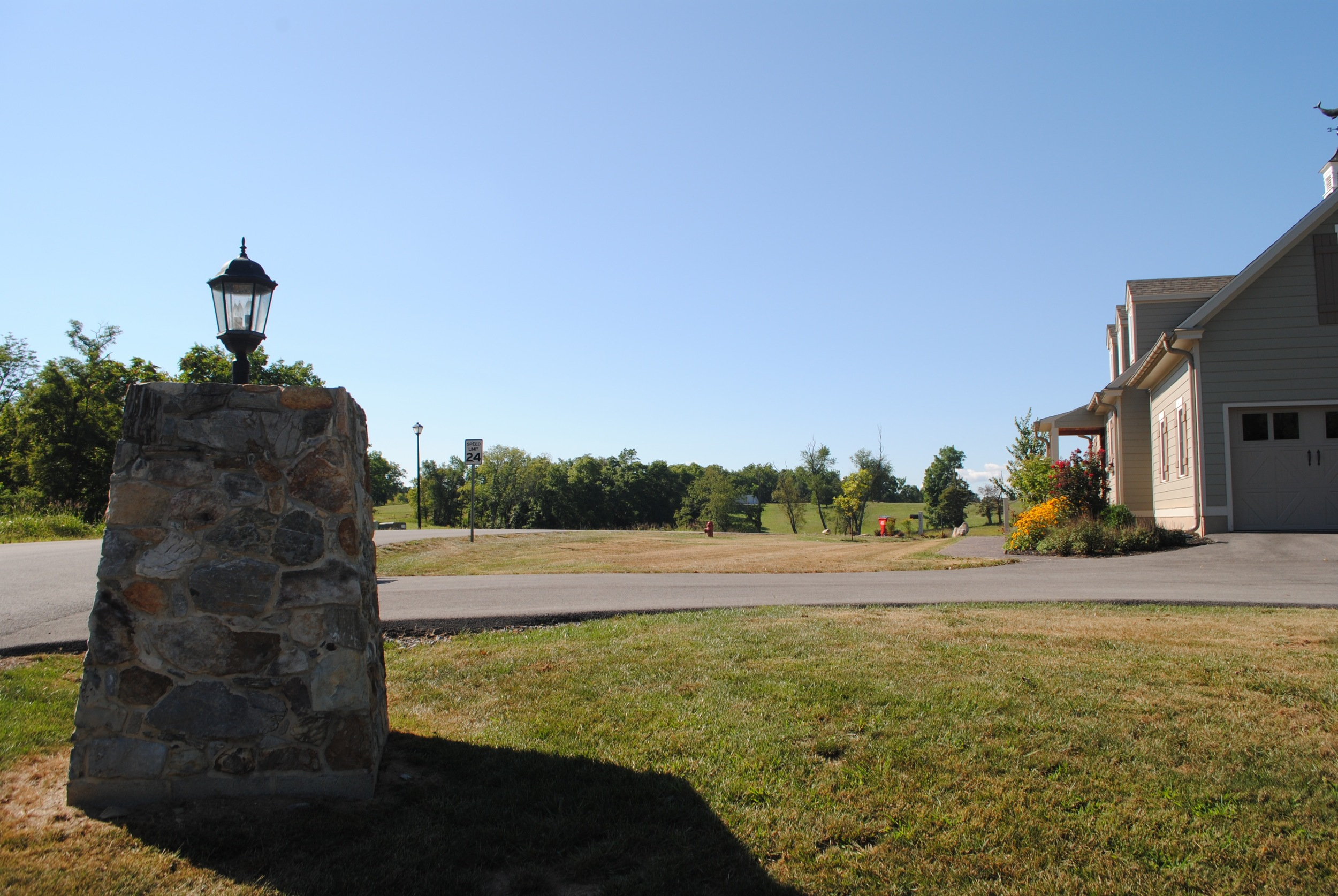 Stone Pillar Entrance to North Hills