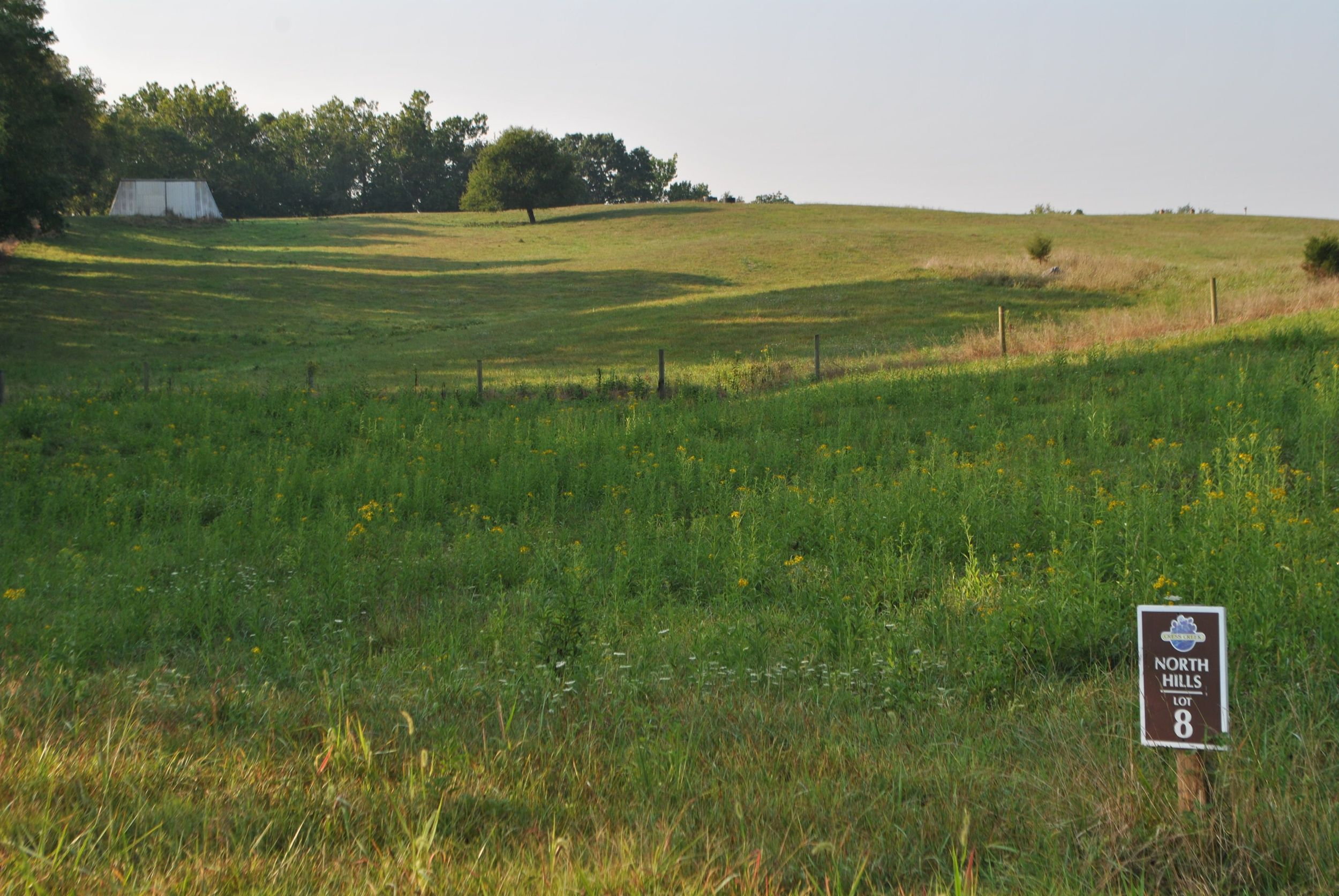 Neighboring Farm looking over lot #8