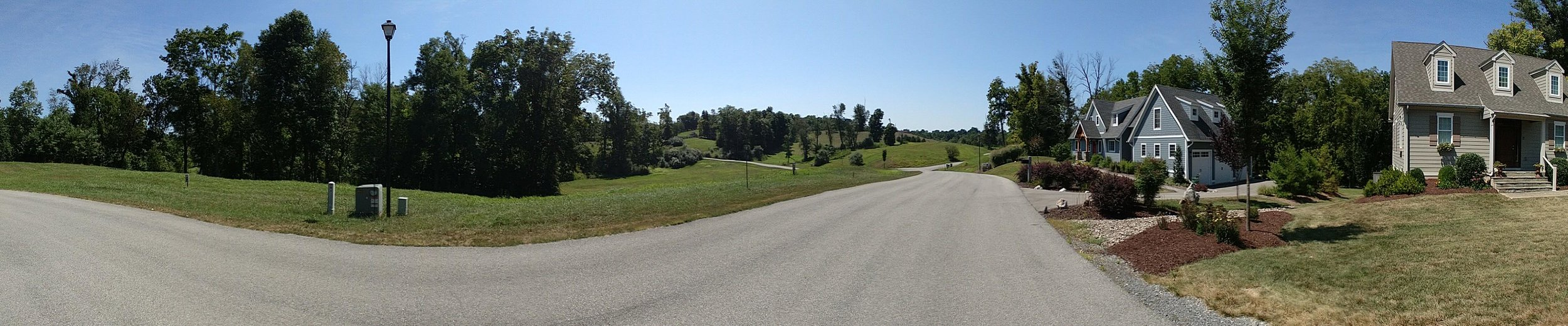 Panorama of houses on lots #1 and #2