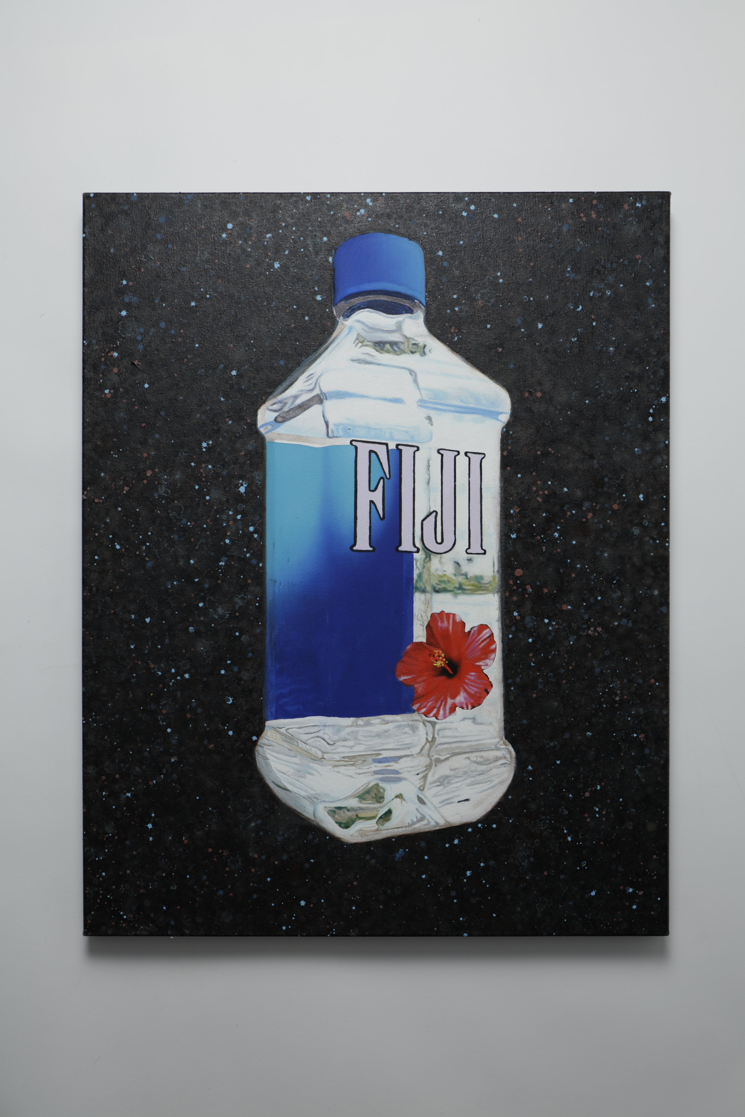 The worlds finest artisan water floating in space -  Oil on canvas - 55cm x 70cm - 2019