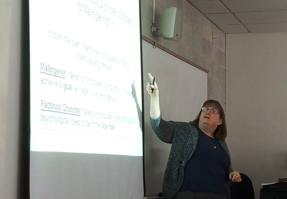 In our LSW / LCSW Prep classes for NASW-PA, Sue Dietrich talks about creating and using flashcards to help master medical and behavioral health terminology, developmental theories, diagnoses, medications, defense mechanisms, and any other information that is hard to remember. Here is a shot of her talking about a sample.flashcard.