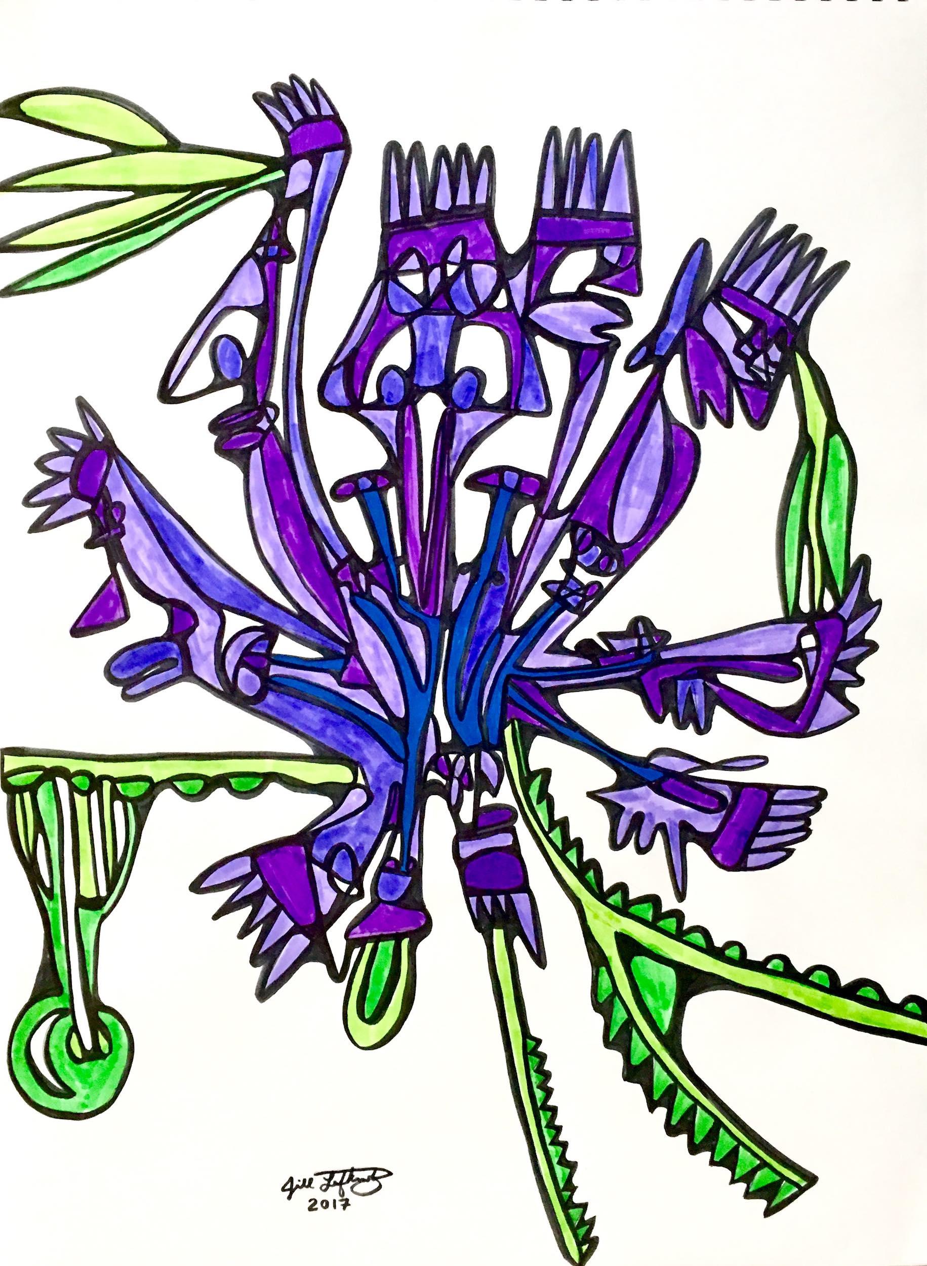 """""""BIANCA'S VIOLET FLOWER"""""""