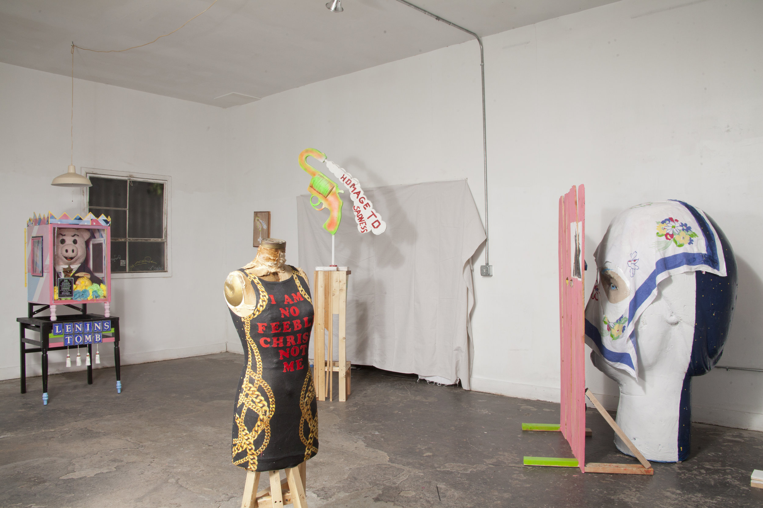 """Spencer Moody   Installation view   """"Can We Ackowledge That Language Has Failed""""   2016"""