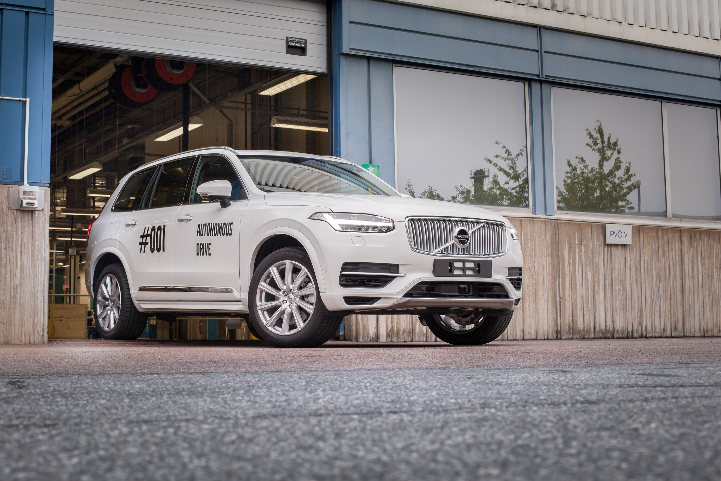 The first autonomous Volvo XC90 that will be used in the Drive Me project in Gothenburg.
