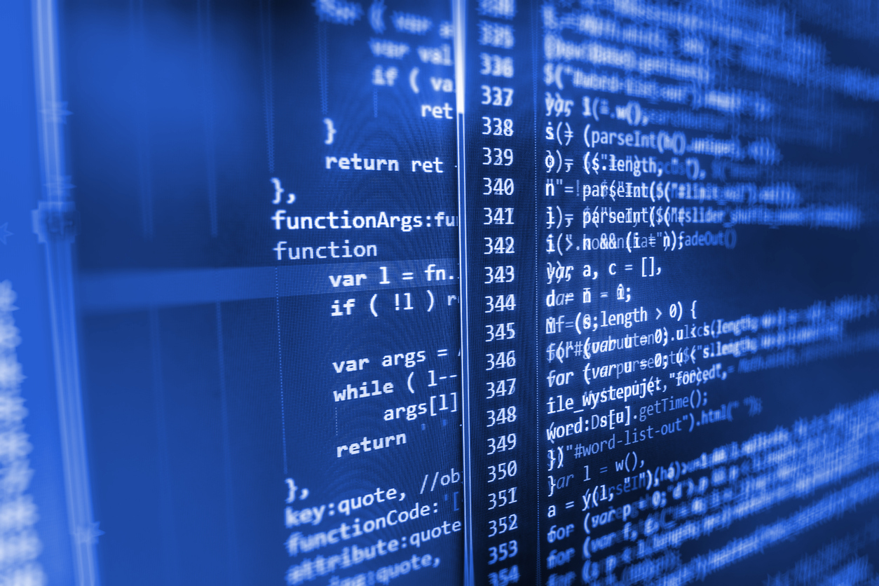 Computer screen showing source code