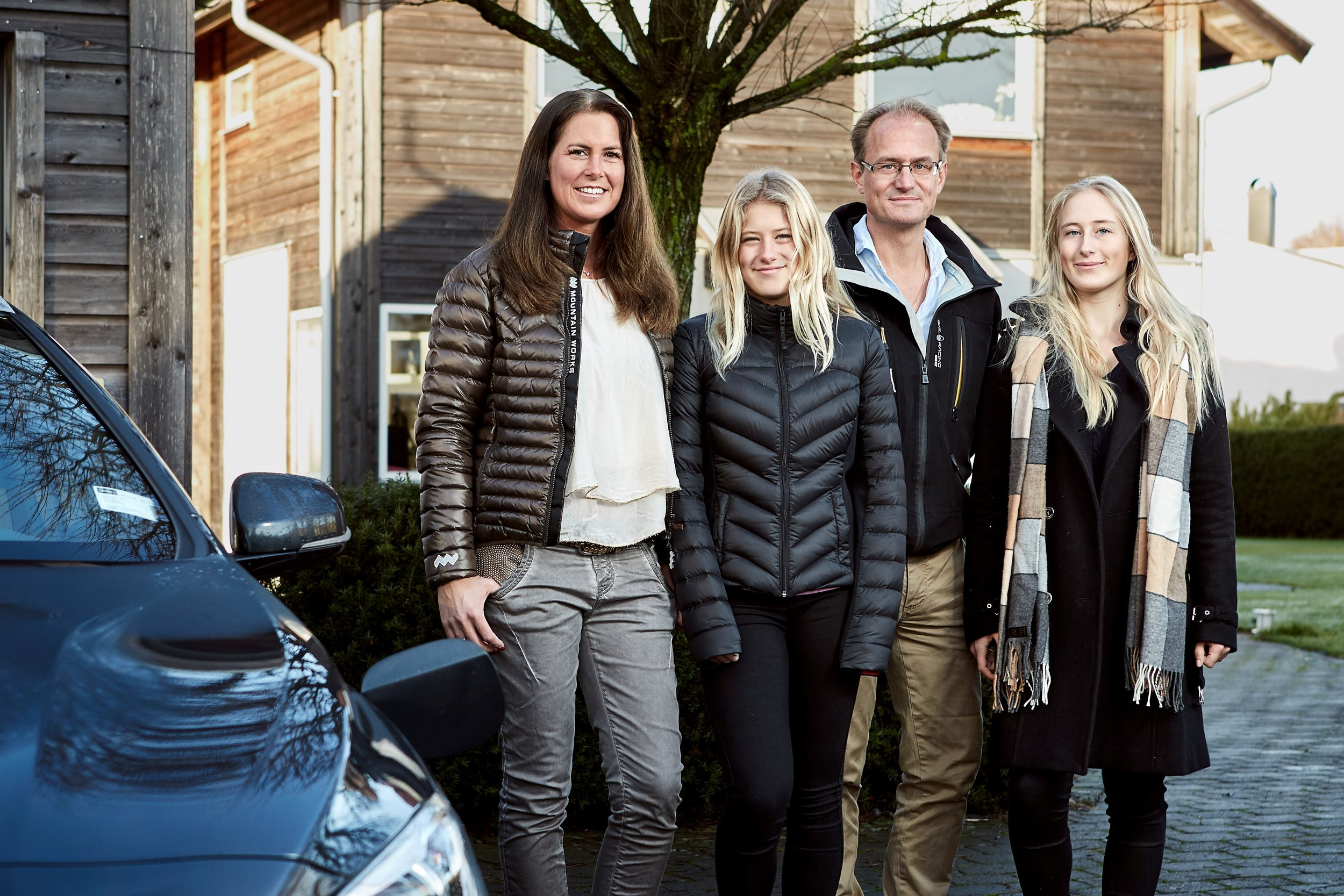 The hains from gothenburg, sweden, will be one of the first families to take part in volvo's self-driving car research project, drive me