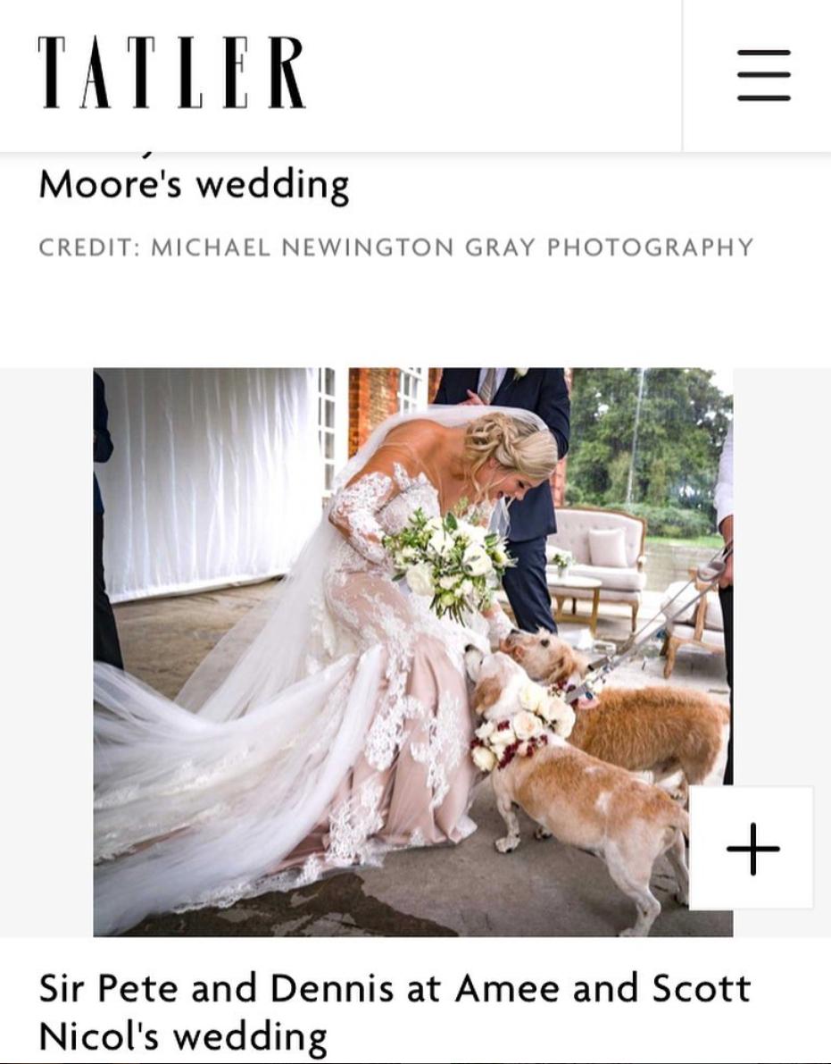 Kensington palace Wedding dress in Tatler